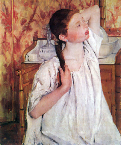 Mary Cassatt Girl arranging her hair