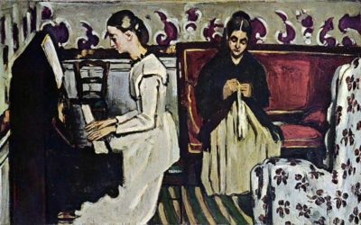 Paul Cézanne Girl at Piano