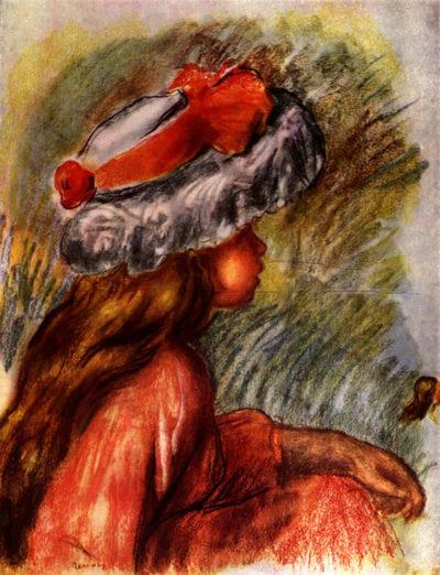 Pierre-Auguste Renoir Girl head