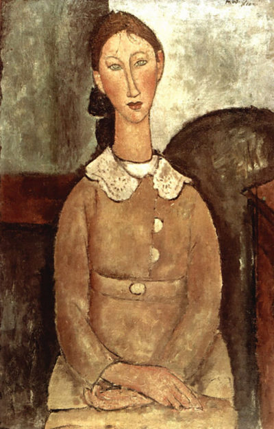 Amedeo Clemente Modigliani Girl in a yellow dress