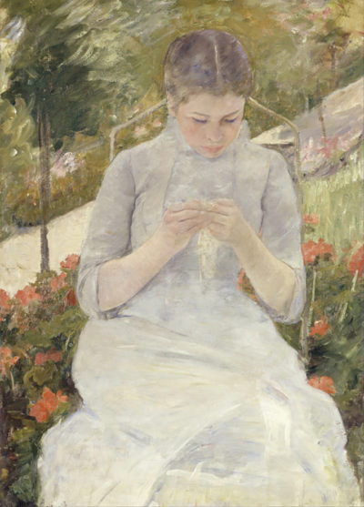 Mary Cassatt Girl in the Garden
