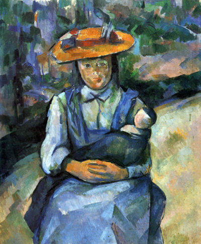 Paul Cézanne Girl with Doll