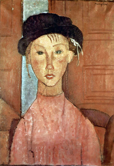Amedeo Clemente Modigliani Girl with Hat