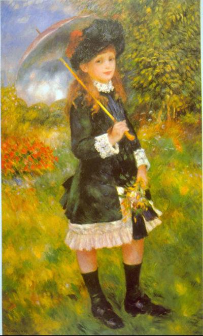Pierre-Auguste Renoir Girl with Parasol