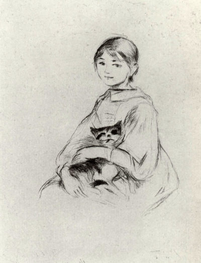 Berthe Morisot Girl with a Cat
