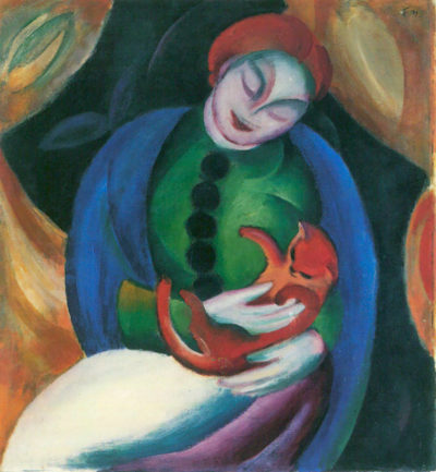 Franz Marc Girl with a Cat II