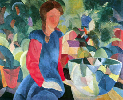 August Macke Girl with a Fish Bowl