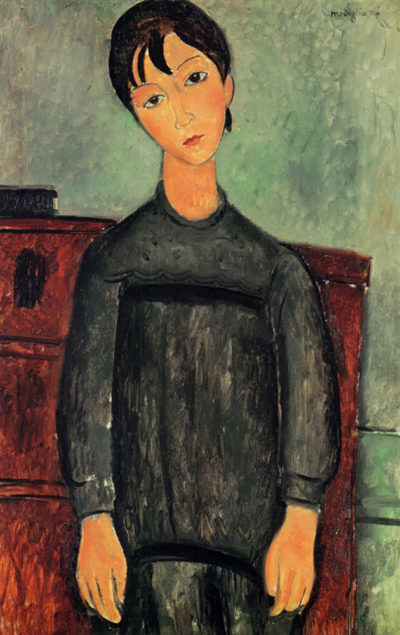 Amedeo Clemente Modigliani Girl with a black robe