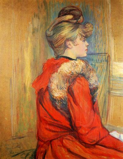 Henri de Toulouse-Lautrec Girl with fur
