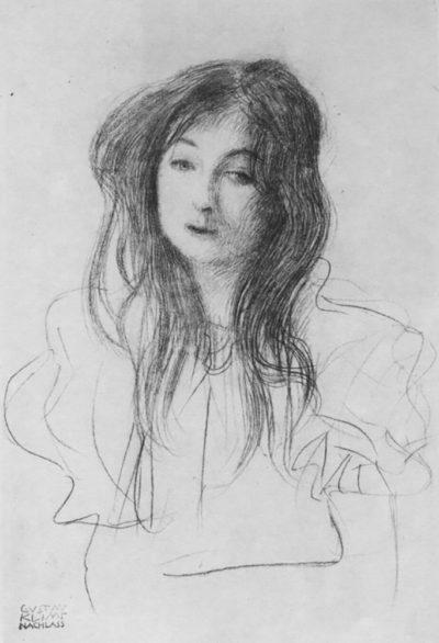 Gustav Klimt Girl with long hair
