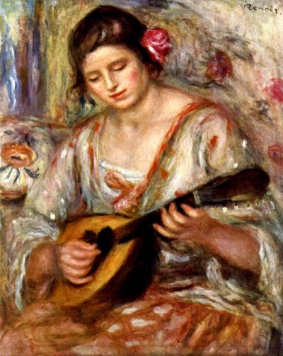 Pierre-Auguste Renoir Girl with mandolin