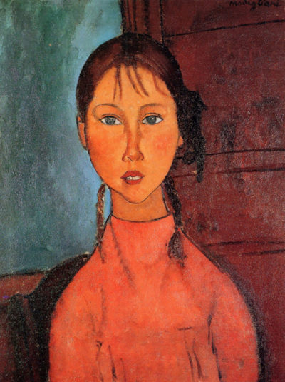 Amedeo Clemente Modigliani Girl with plaits