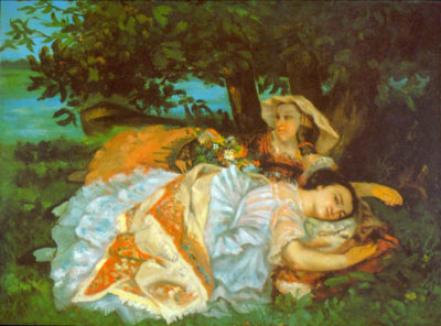 Gustave Courbet Girls on the Bank