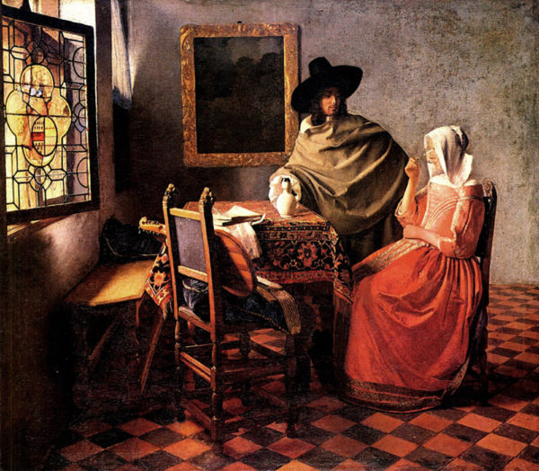 Johannes Vermeer Glass of wine