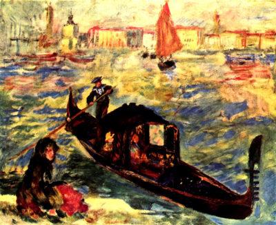 Pierre-Auguste Renoir Gondola on the Canale Grande