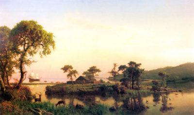 Albert Bierstadt Gosnold on Cuttyhunk