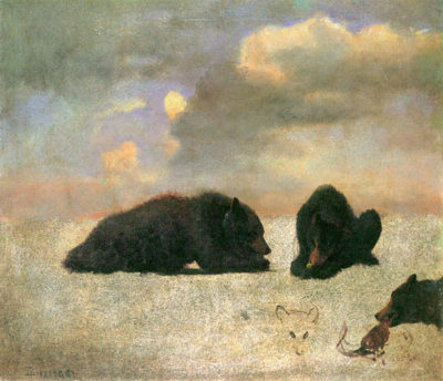 Albert Bierstadt Grizzly Bears