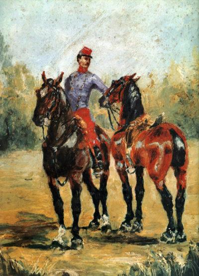 Henri de Toulouse-Lautrec Groom with Two Horses