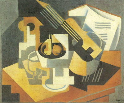 Juan Gris Guitar and Fruit Bowl