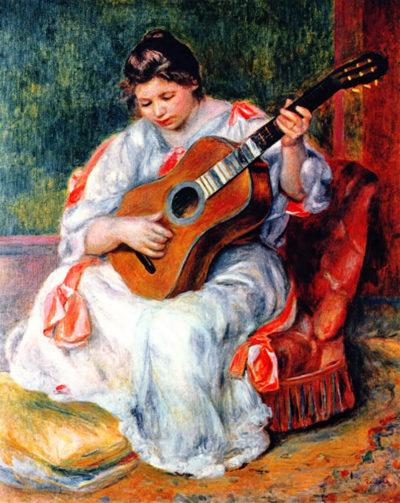 Pierre-Auguste Renoir Guitarist
