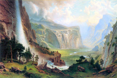 Albert Bierstadt Half Dome in Yosemite