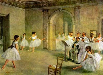 Edgar Degas Hall of the Opera Ballet in the Rue Peletier