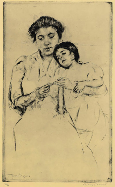 Mary Cassatt Handkerchief