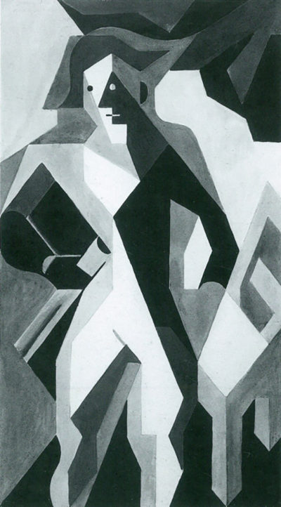Juan Gris Harlequan with Stool by Juan Gris