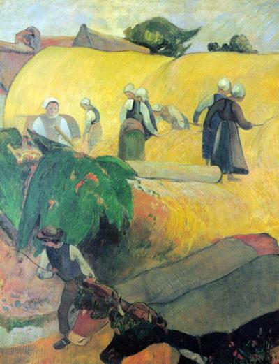 Paul Gauguin Harvest In Brittany