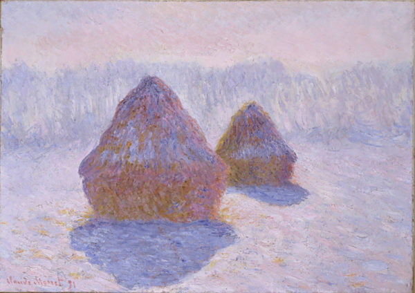 Claude Monet Haystacks (Effect of Snow and Sun)