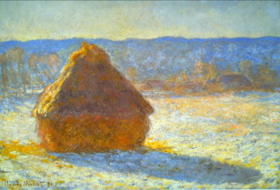 Claude Monet Haystacks in Snow