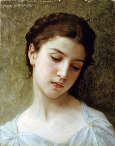 William-Adolphe Bouguereau Head Of A Young Girl 1898