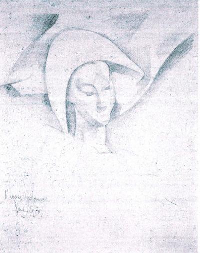 Juan Gris Head of a Harlequin (Cézanne)