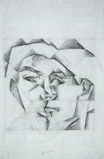 Juan Gris Head of a man (head of a woman)