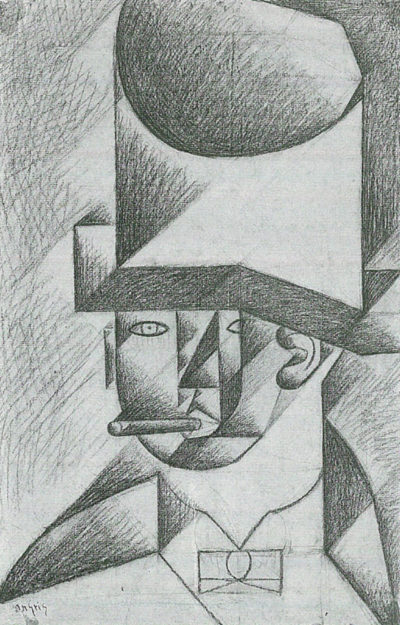 Juan Gris Head of a man with cigar