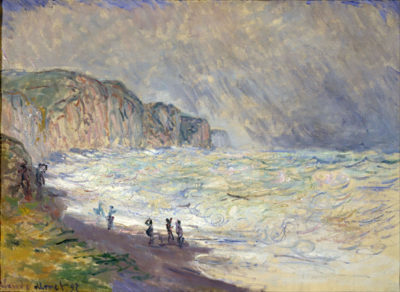 Claude Monet Heavy Seas at Pourville