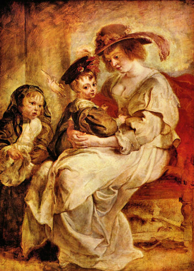 Peter Paul Rubens Helene Fourment with two of her children