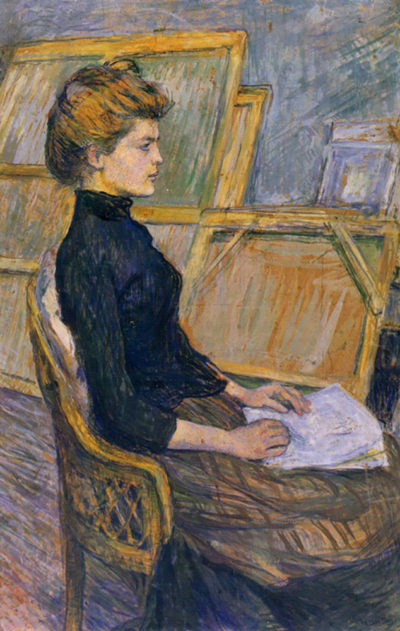 Henri de Toulouse-Lautrec Helene Vary in the study