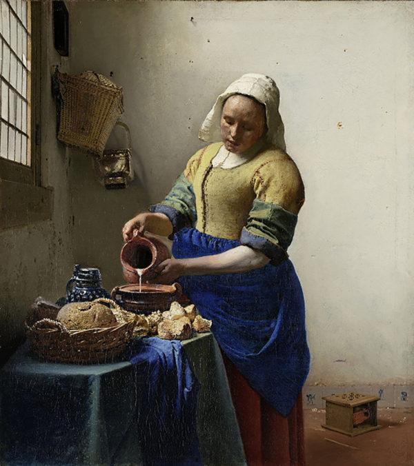 Johannes Vermeer The Milkmaid