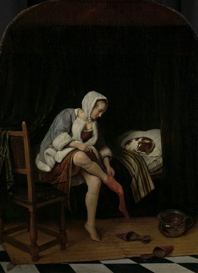 Jan Havicksz. Steen Woman at her Toilet