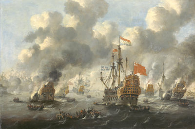 Peter van de Velde Burning of the English Fleet at Chatham