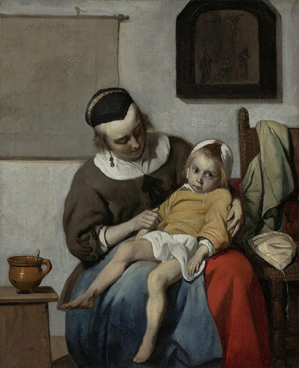 Gabriël Metsu The Sick Child