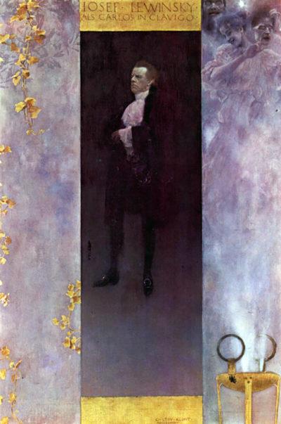 Gustav Klimt Hofburg actor Josef Lewinsky as Carlos