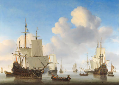 Willem van de Velde de Jonge Dutch Ships in a Calm Sea