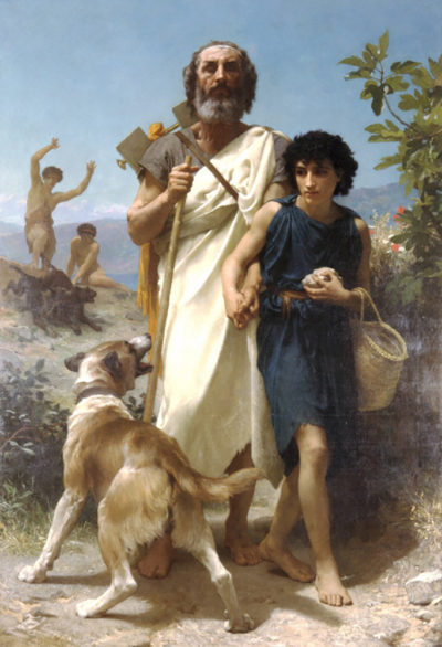 William-Adolphe Bouguereau Homer and his Guide 1874