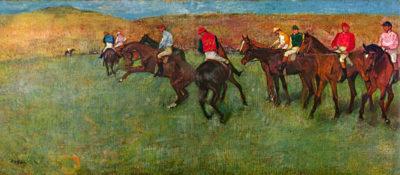Edgar Degas Horse race before the start