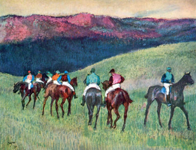 Edgar Degas Horse racing - The training