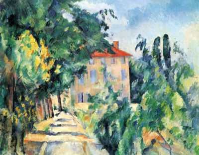 Paul Cézanne House with Red Roof