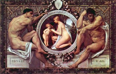 Gustav Klimt Idyll