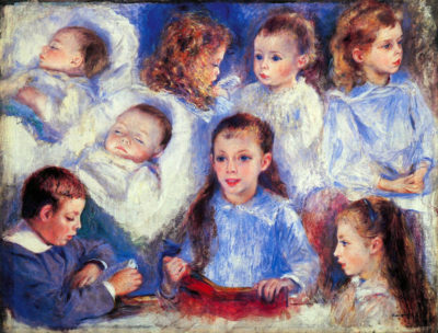 Pierre-Auguste Renoir Images of children's character heads